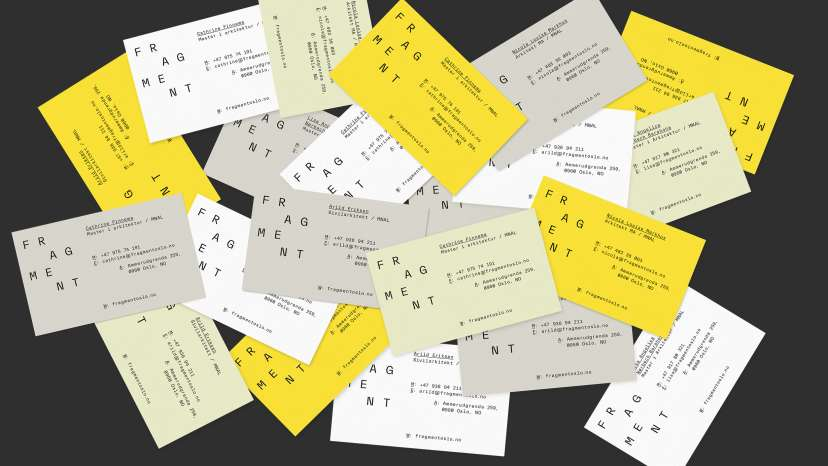 Stack of business cards for Fragments by ANTI