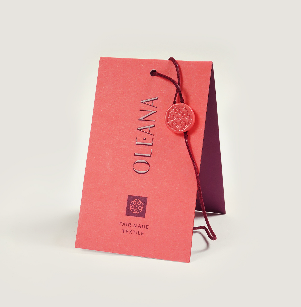 Oleana Branding ANTI – Printed product tag