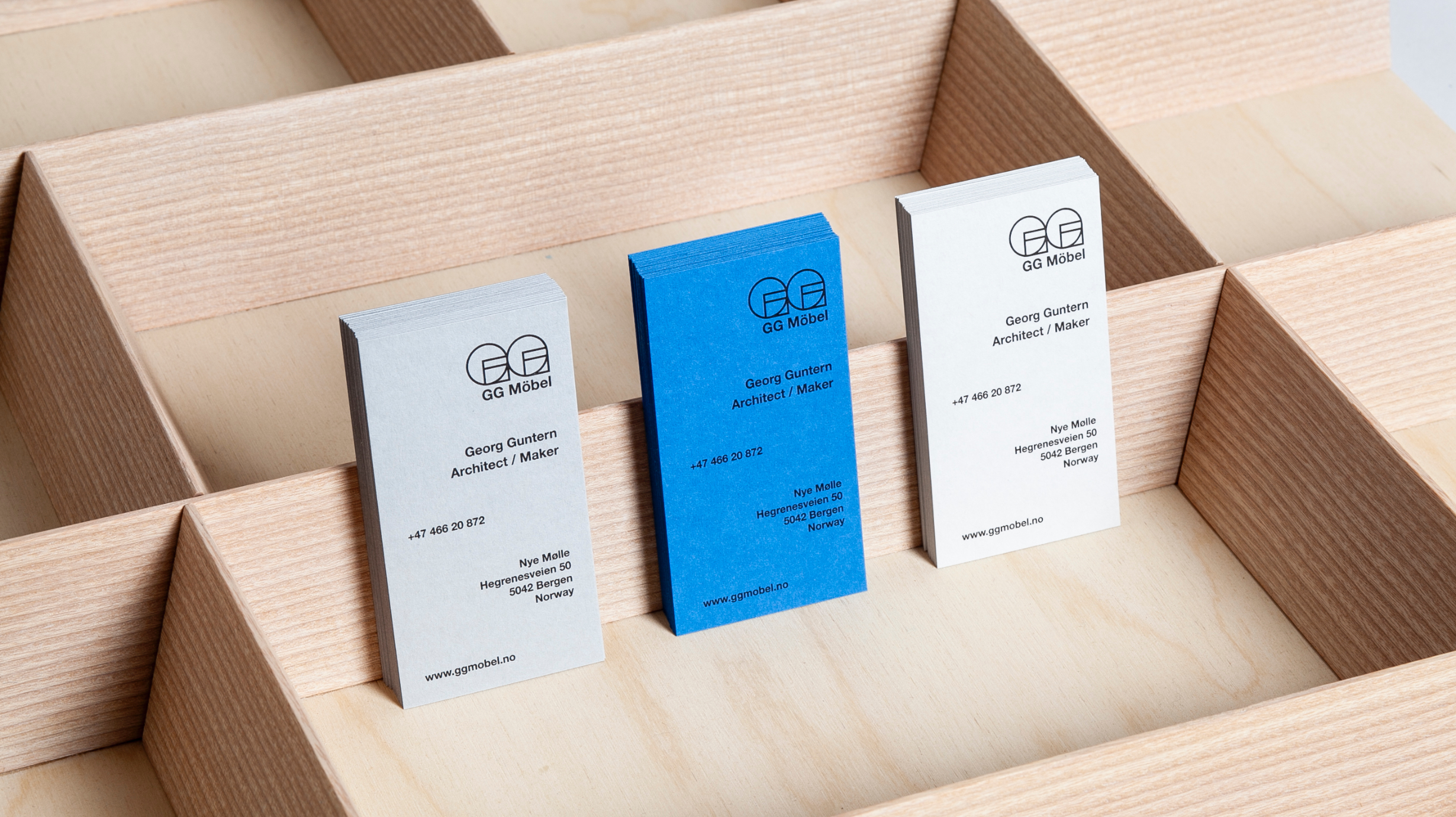 GG Mobel business cards