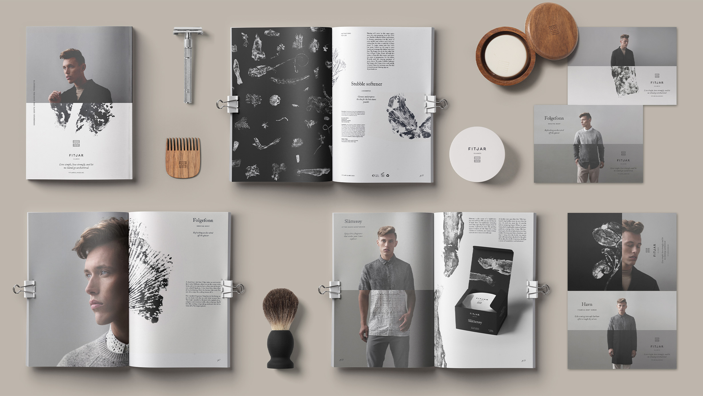Fitjar Islands product overview branding by ANTI Bergen
